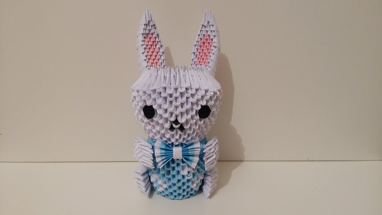 Lapin , rabbit origami 3d - YouTube - photo#36