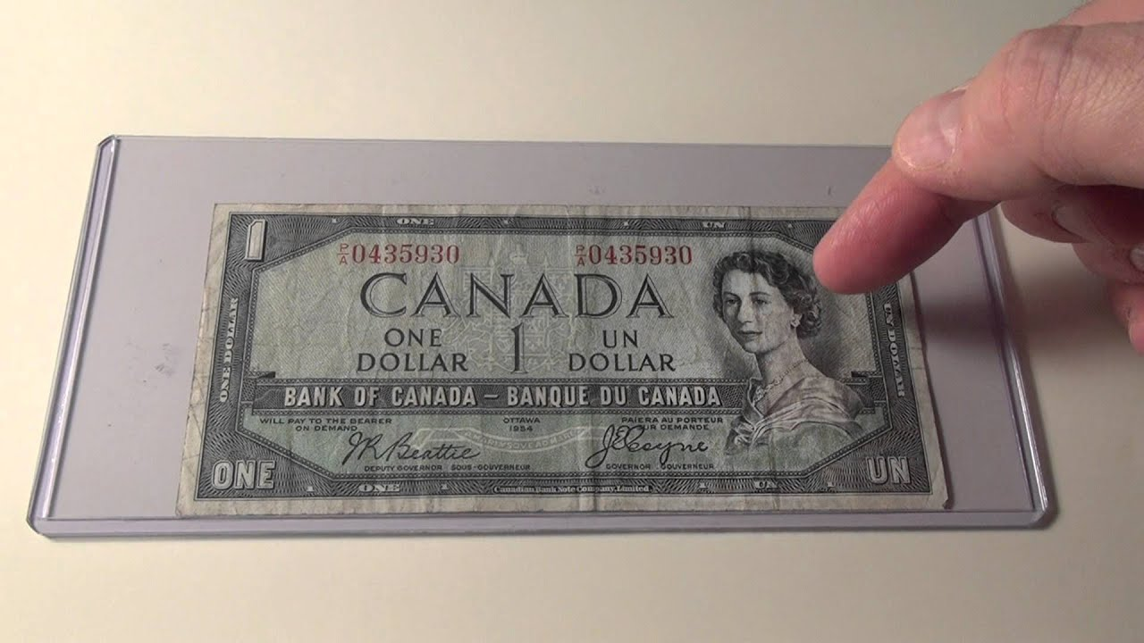 North & Central America 1954 One Dollar Bank Of Canada Note K-24-17