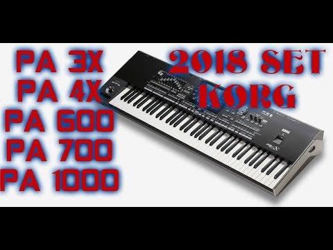 2018 SET COMPLET 100% KORG PA3X, PA4X, PA600, PA700,PA 1000