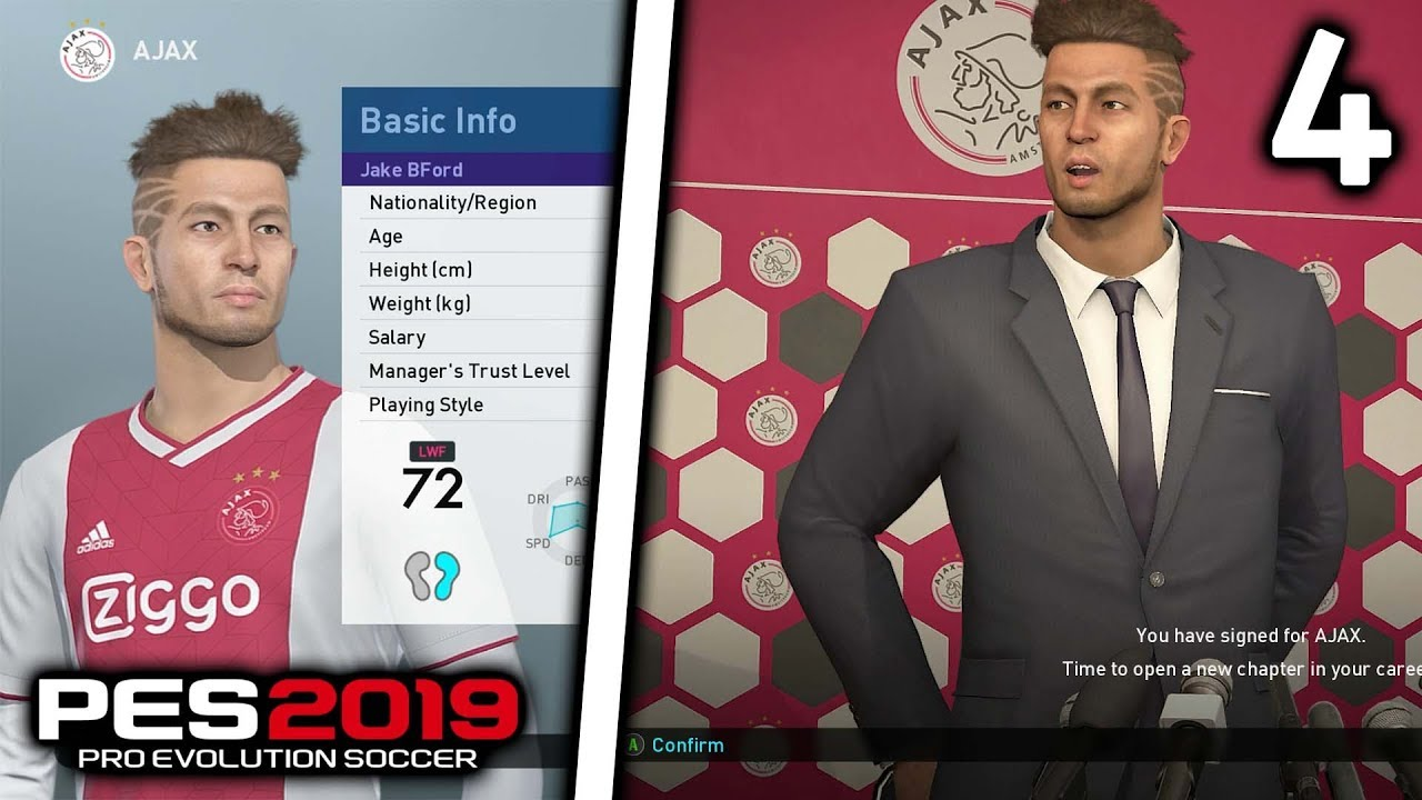 SIGNING FOR AJAX!!! | PES 19 BECOME A LEGEND MY PLAYER CAREER MODE!!  Episode #4