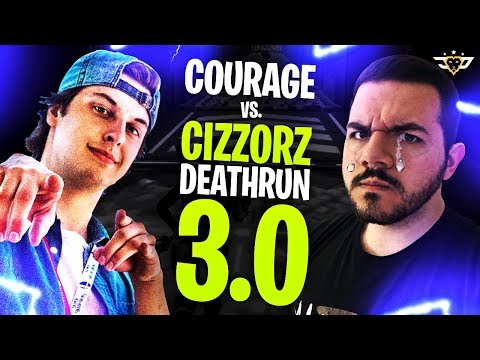 COURAGE VS CIZZORZ DEATHRUN 3.0! I NEARLY CRY?! (Fortnite: Battle Royale)