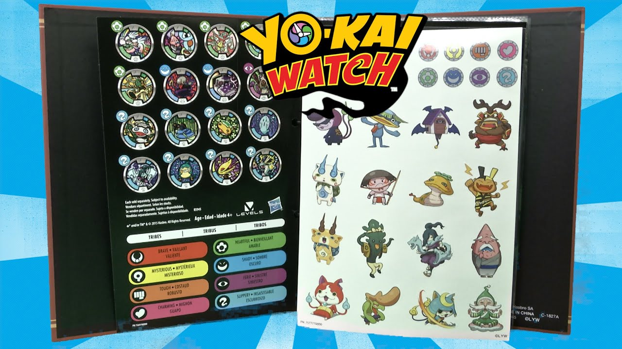 Yo-kai Season 1 Collector Book Pages with 1 Exclusive Medal