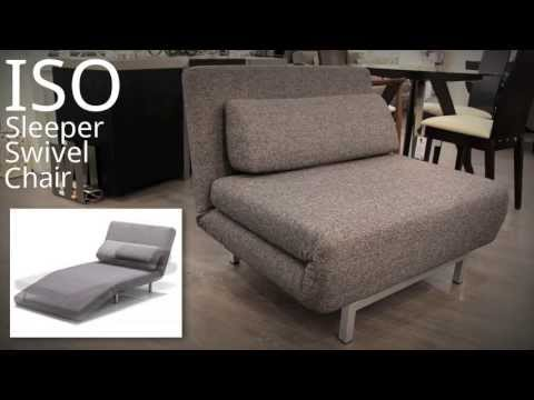 Stop Motion Transforming Swivel Sleeper Chair The Iso