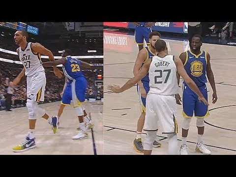 Draymond Green Shoves Rudy Gobert Then Knocks Down Donovan Mitchell! Warriors vs Jazz