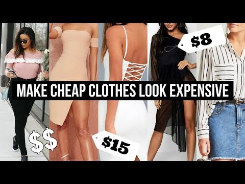 HOW TO MAKE CHEAP CLOTHES LOOK EXPENSIVE | DIY Clothing Hacks 2018