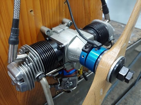 OS FT 160 Gemini TWIN Glow conversion to Gas Quide and test Run video