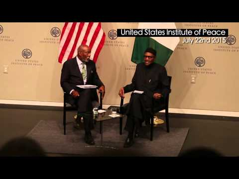 President Buhari's Statement At The US Institute Of Peace That Made Everyone Cringe