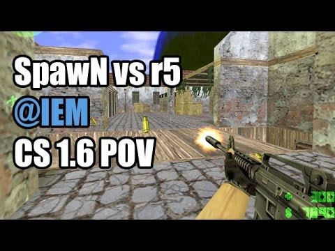 POV: SpawN vs. r5 @IEM SK CS 1.6 Demo