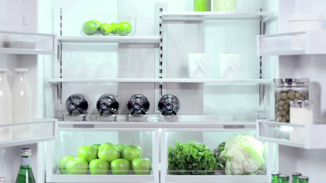 Built-in refrigerator Fisher & Paykel - YouTube