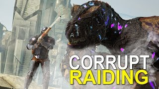 SUPER BROKEN CORRUPTED RAIDING - Ark Extinction (Official Small Tribe Pvp) - Ep. 3