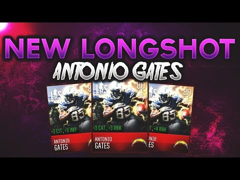 GETTING THE NEW 80 OVERALL LONGSHOT ANTONIO GATES! MADDEN MOBILE 18 ELITE PLAYER LIVE STREAM