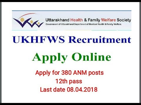 380 Health Worker vacancies in UKHFWS   12th pass  