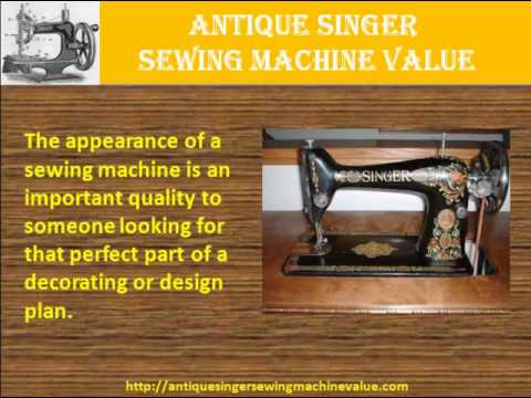 Antique Singer Sewing Machine Value YouTube Inspiration 1910 Singer Sewing Machine Worth