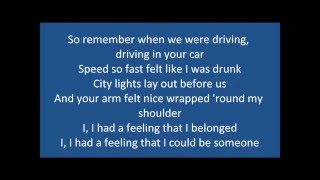 Fast car - Jonas blue ft.  Dakota - Lyrics