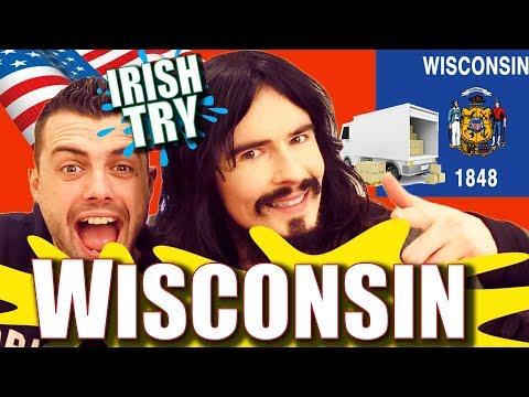 Irish People Taste Test WISCONSIN Snacks & Beers!! -