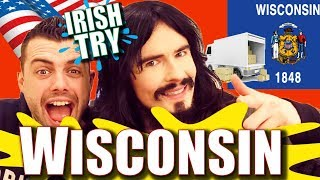 Irish People Taste Test WISCONSIN Snacks & Beers!! - 'UNBOXING'