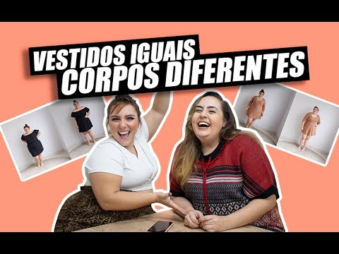 VESTIDOS IGUAIS EM CORPOS DIFERENTES 👗 | COM CINDERELA DE MENTIRA