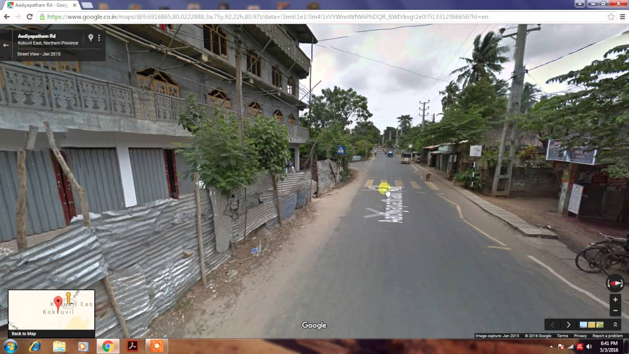Jaffna Street View In Google Map 2016 Youtube