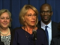 DeVos seeks to mend fences after confirmation