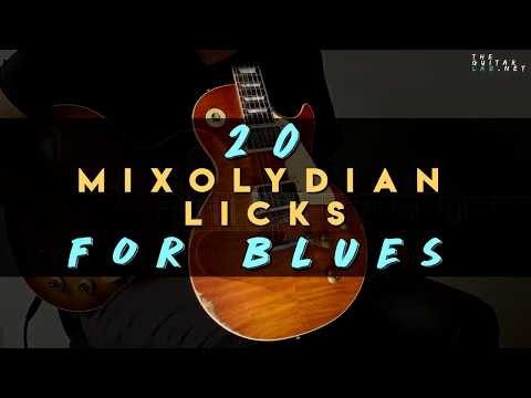 20 Mixolydian Licks for Blues - TheGuitarLab.net
