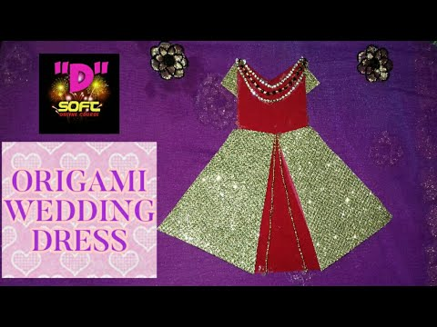 DIY Origami Wedding dress | Paper dress | How to make a Paper dress |