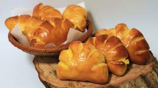 Baked Custard Cream Bun Recipe…