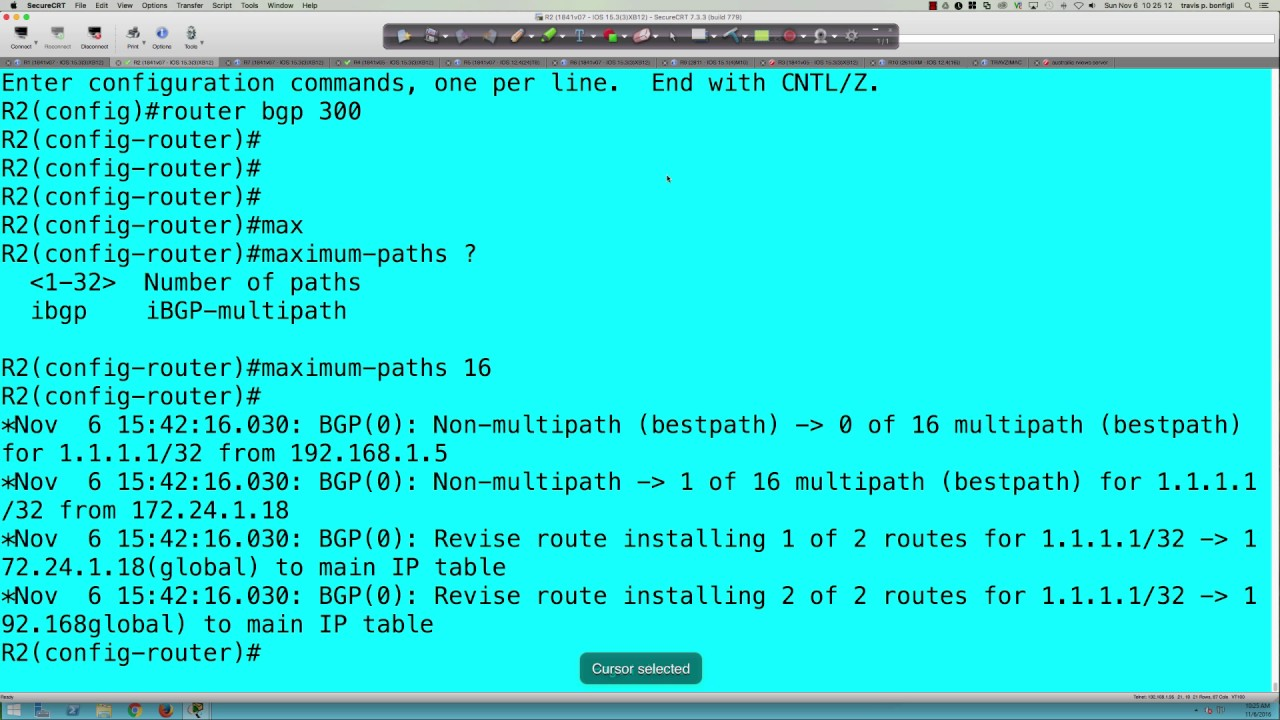 FALL 2016 - CTS265 - CCNP ROUTE - BGP Supplement: Multipath - Week #9