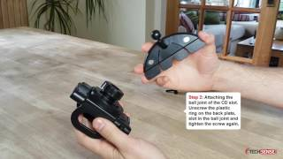 techsense car cd slot phone holder mount assembly instructions