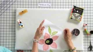 How to Hand Stİtch Applique by Jill Finley of Jillily Studio - Fat Quarter Shop
