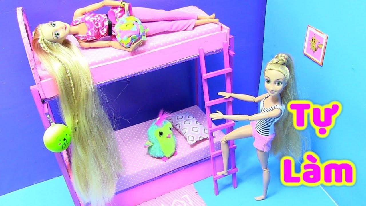 Tự Làm Giường Tầng Giống Y Như Thật Cho Búp Bê (làm đồ chơi cho trẻ em) Chị bí đỏ