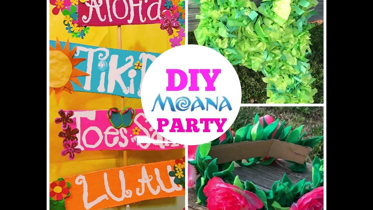 Diy Moana Birthday Party Ideas Cheap and Easy YouTube