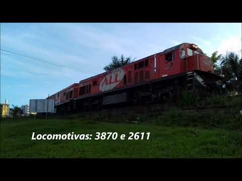 GE U20C 3870 e 2611 passando por Cornélio Procópio/PR sentido à Londrina/PR. 16/01/20.