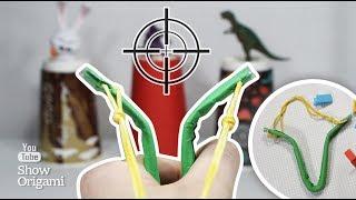 КАК СДЕЛАТЬ РОГАТКУ 💥 из бумаги - Простой способ сделать игрушечное оружие