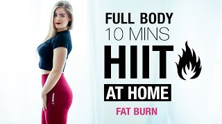 FAT BURN HIIT - AT Home - Full Body Intense Routine !