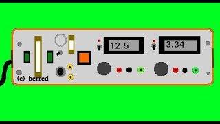 Labornetzteil, Selbstbau, ca. 1996, + magic smoke - Nostalgieelektronik