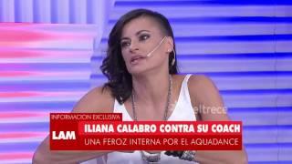 La feroz interna entre Iliana Calabró y su coach
