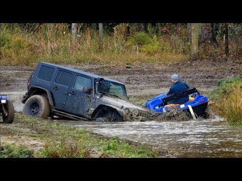 ARGO ATV Amphibious Pee On Jeep In Mud Bogging