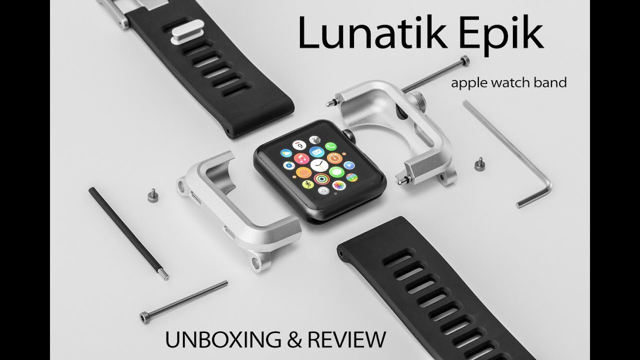 classic fit d1aa2 05f28 Unboxing & Review of the Lunatik Epik Apple Watch Case / Band