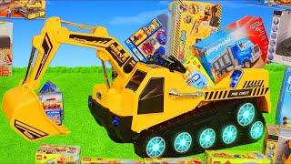 Excavator, Truck, Cars & Dump Trucks Const