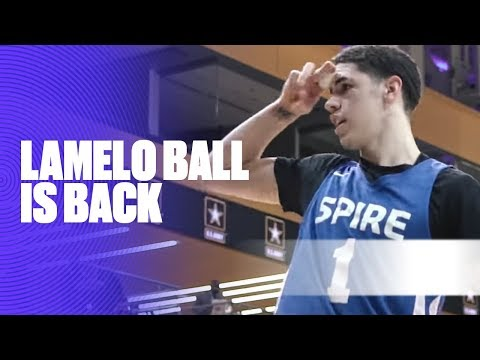 LaMelo Ball Returned From Injury and Showed Out Against Springdale Prep - Full Highlights