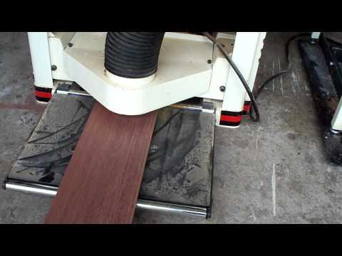 Wood Floors: Planing down Purple Heart lumber: Las Vegas