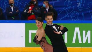 Елизавета Худайбердиева Егор Базин Ритм танец Кубок Первого канала по фигурному катанию 2021