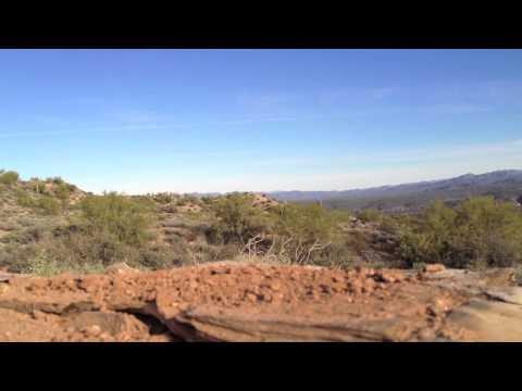 Arizona desert panning timelapse