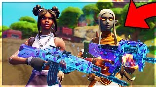 FORTNITE SEASON 8 GRINDING OUT THE BATTLE PASS! SEASON 8 GAMEPLAY! NEW WEAPON WRAPS!