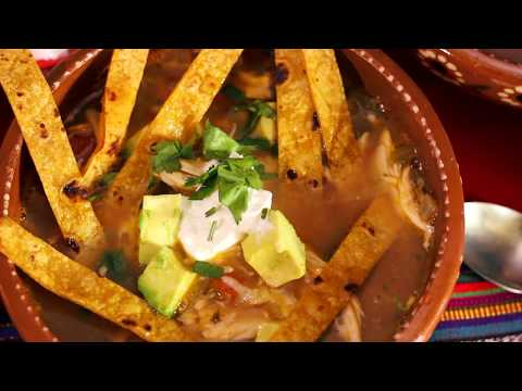 Easy way to make homemade soup with chicken tortilla