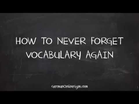 Learn German Online: How to Never Forget Vocabulary Again