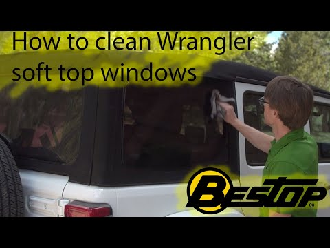 How to clean your Wrangler's soft top windows