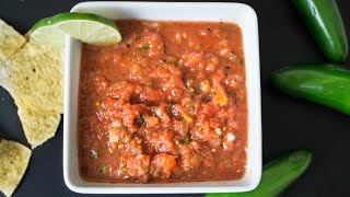 How To Make Real Mexican Salsa - Restaurant Style