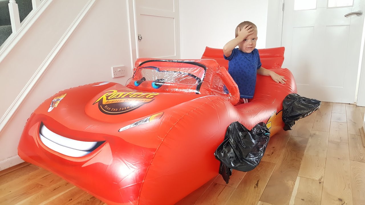 Huge Giant Inflatable Car Lightning Mcqueen Disney Flat