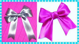 5 minute crafts DIY   How to make a bow   5 DIY ribbon Bow